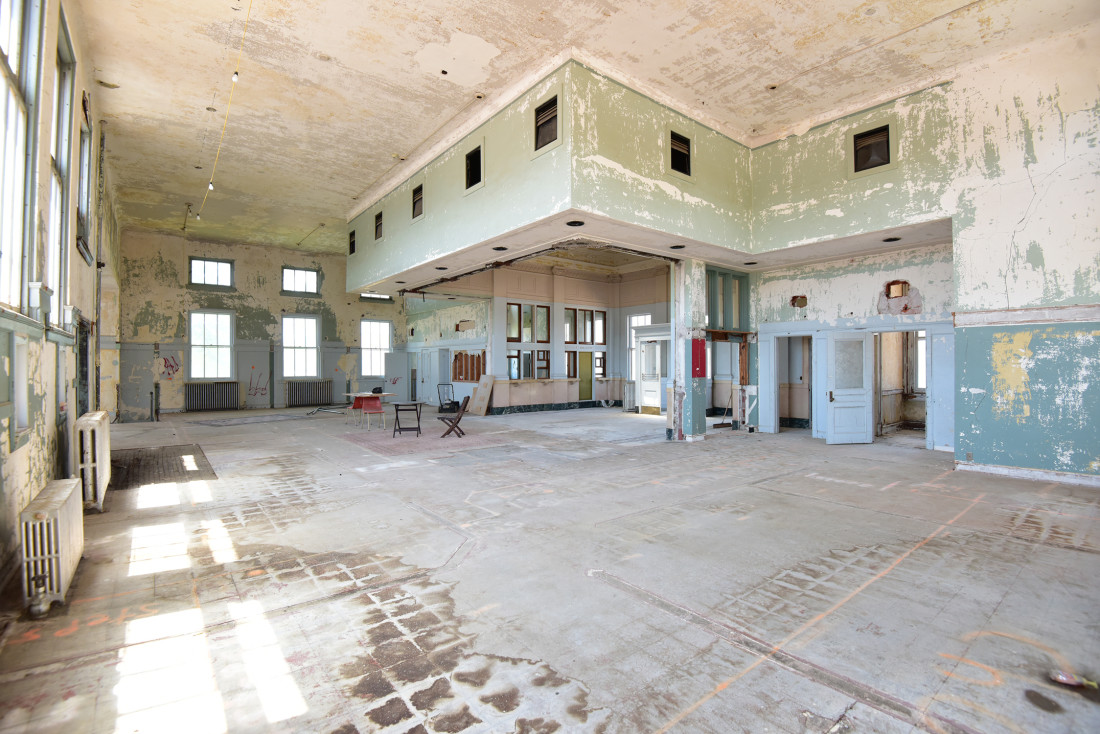 Before Photo of the Ottawa Post Office Lobby
