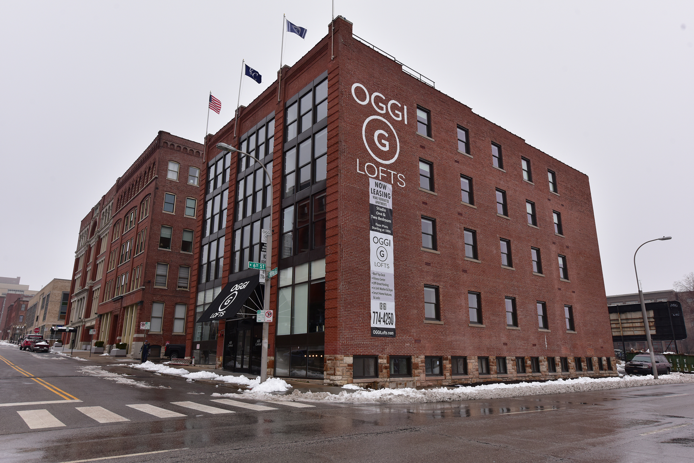 Outside view of Ogee Lofts
